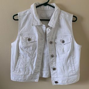 Maurices White Denim Vest